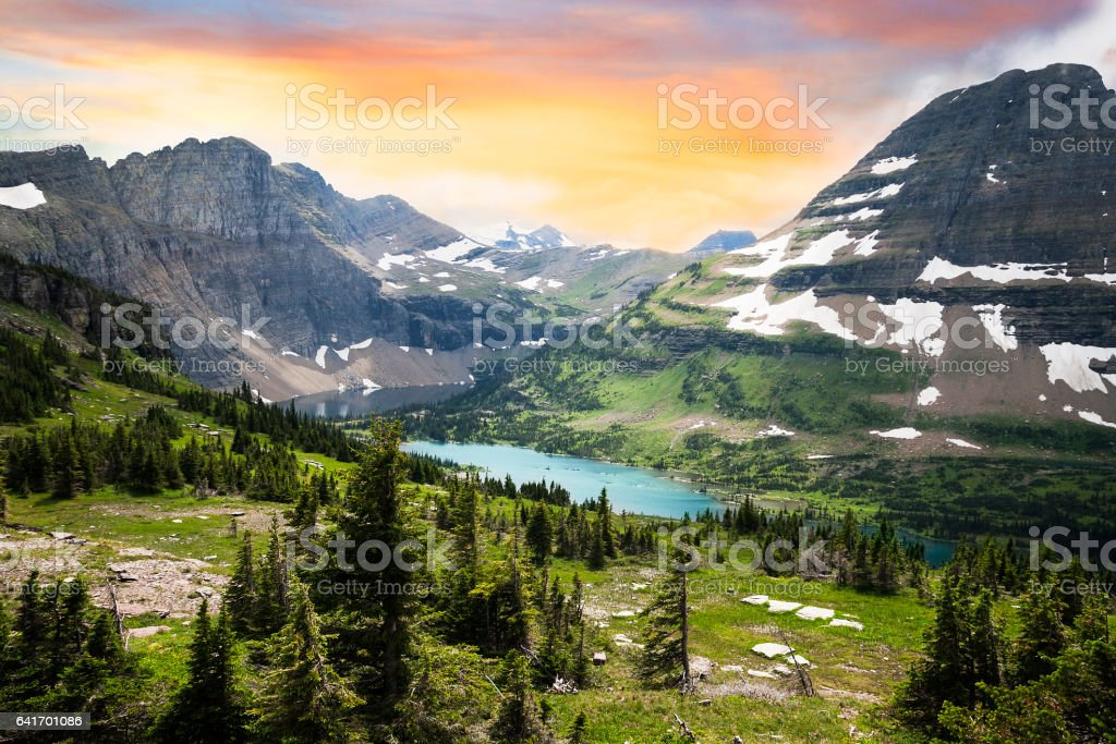 Glacier National Park, Montana, USA stock photo