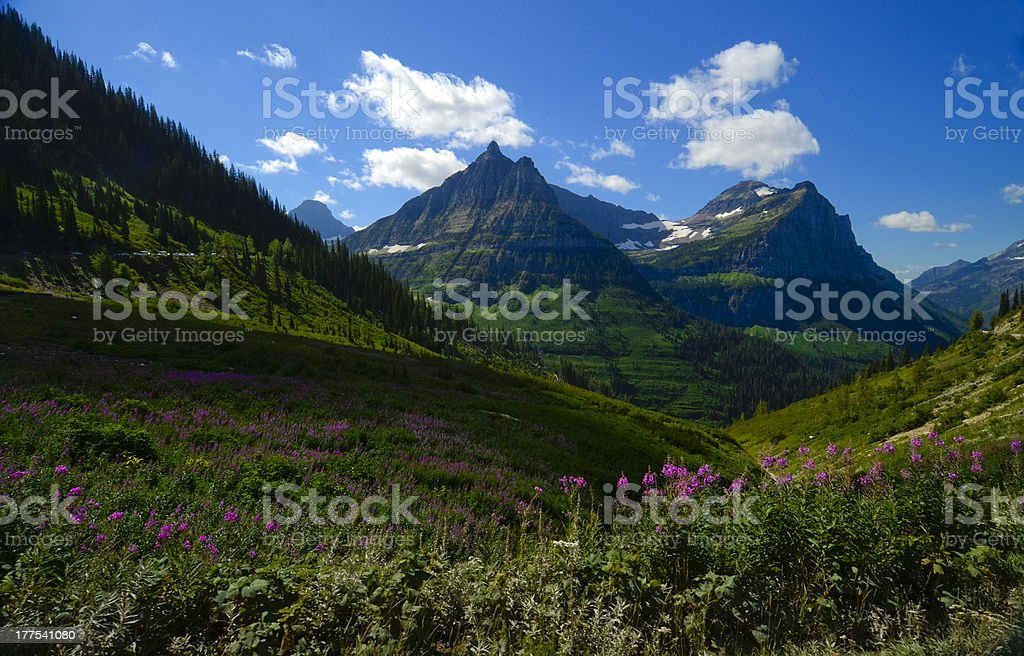 Glacier National Park Mountains stock photo