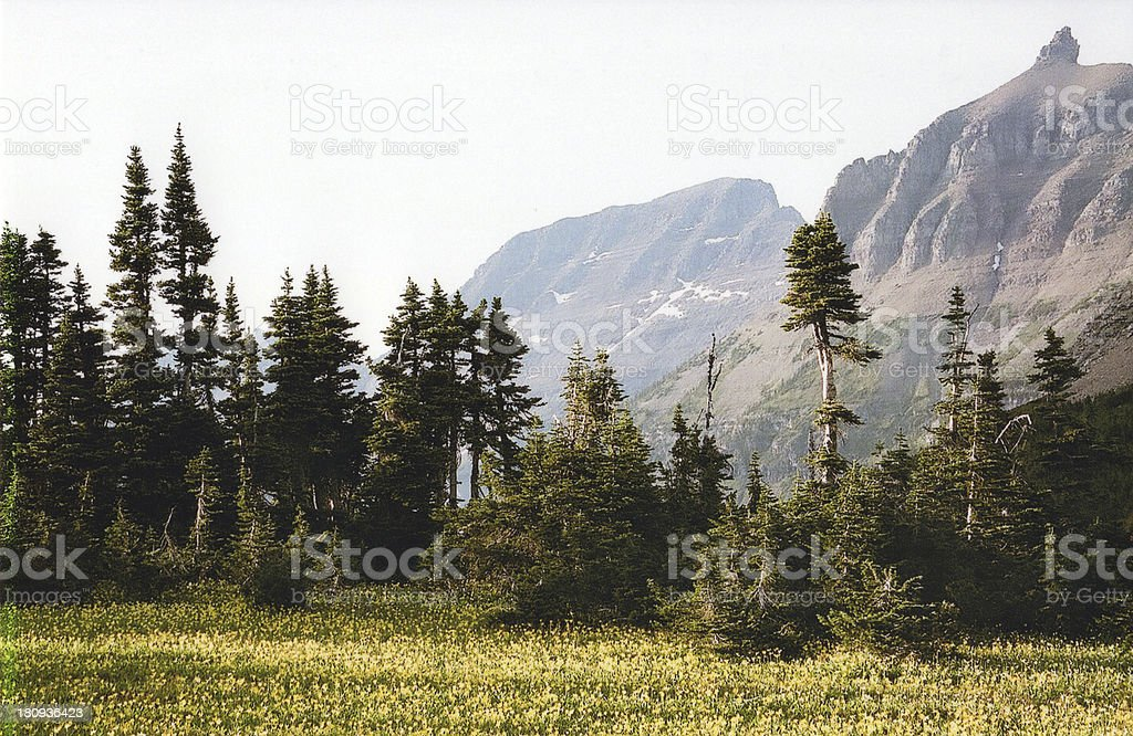 Glacier National Park - Northwest Montana royalty-free stock photo