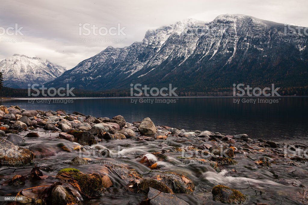 Glacier National Park stock photo