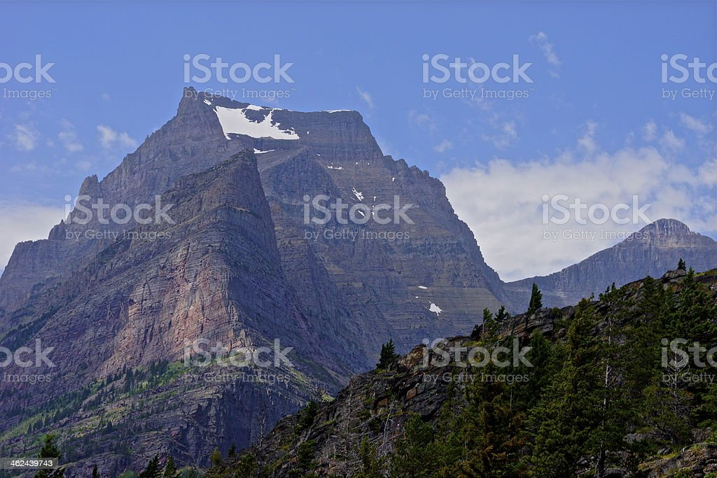Glacier National Park Rugged stock photo