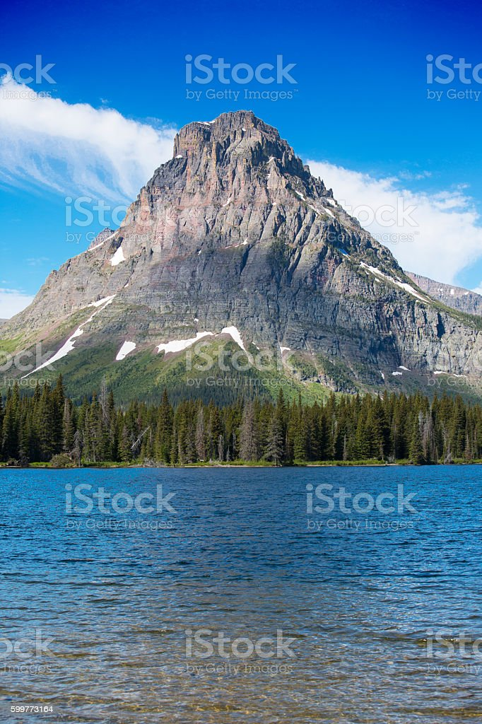 Glacier National Park ,Two Medicine Lake-Stock image stock photo