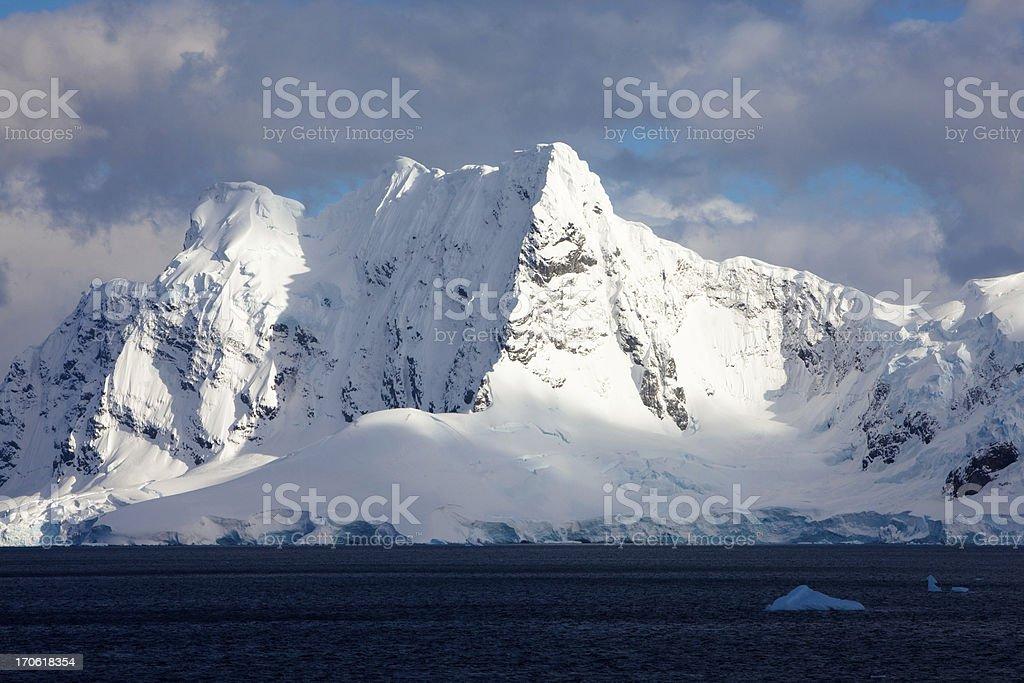 Glacier near Port Lockroy Antarctica stock photo