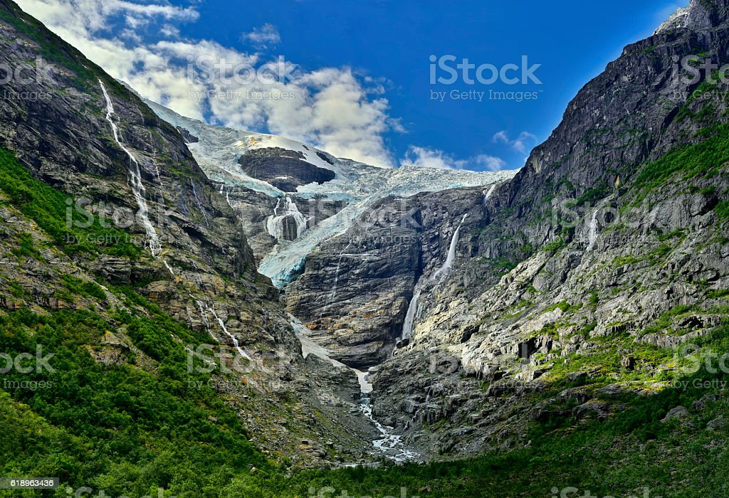 Glacier Norway Kjenndalen, landscape nature scandinavia stock photo