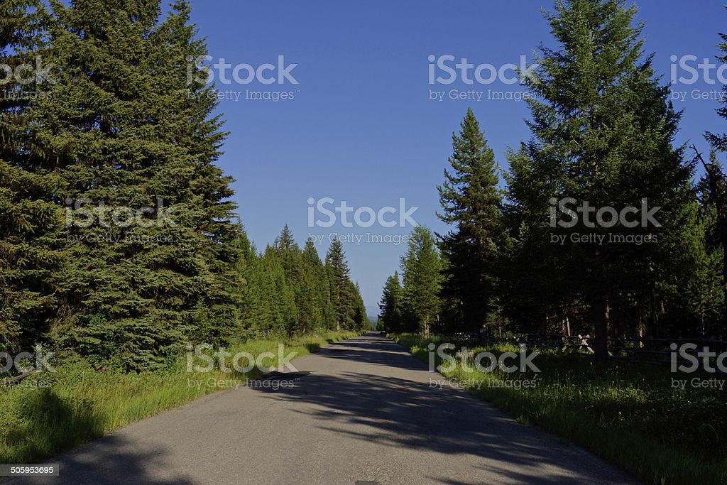 Glacier NP Road stock photo