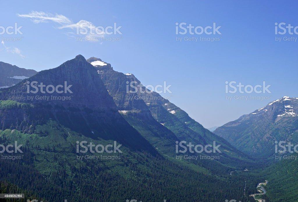 Glacier NP Slope stock photo