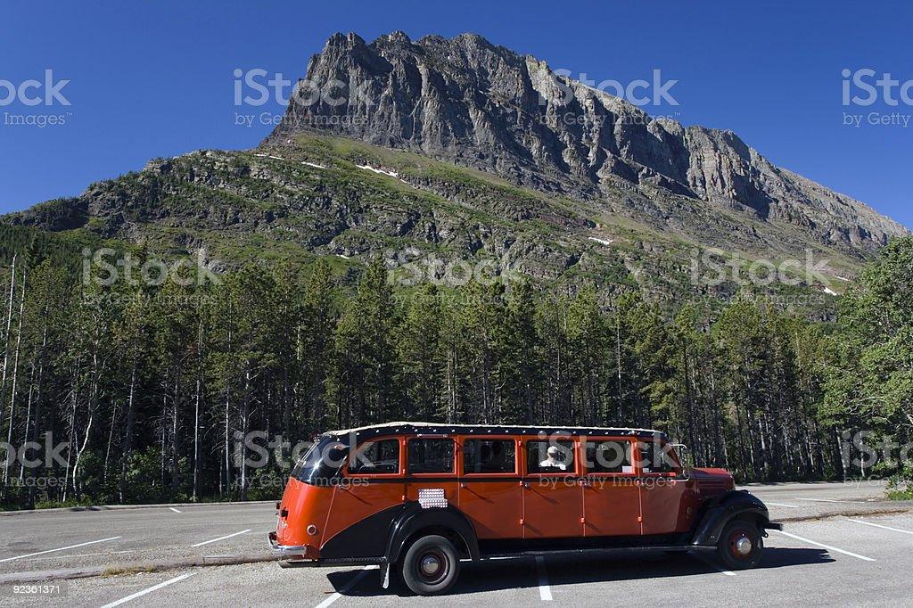 Glacier NP Tour Bus royalty-free stock photo