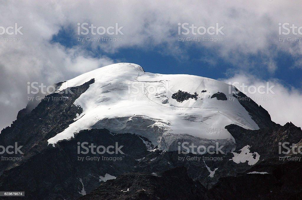Glacier of Bernina Alps - Engadine Switzerland stock photo