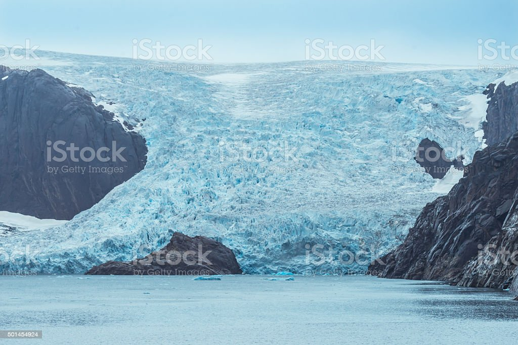 Glacier of Greenland stock photo