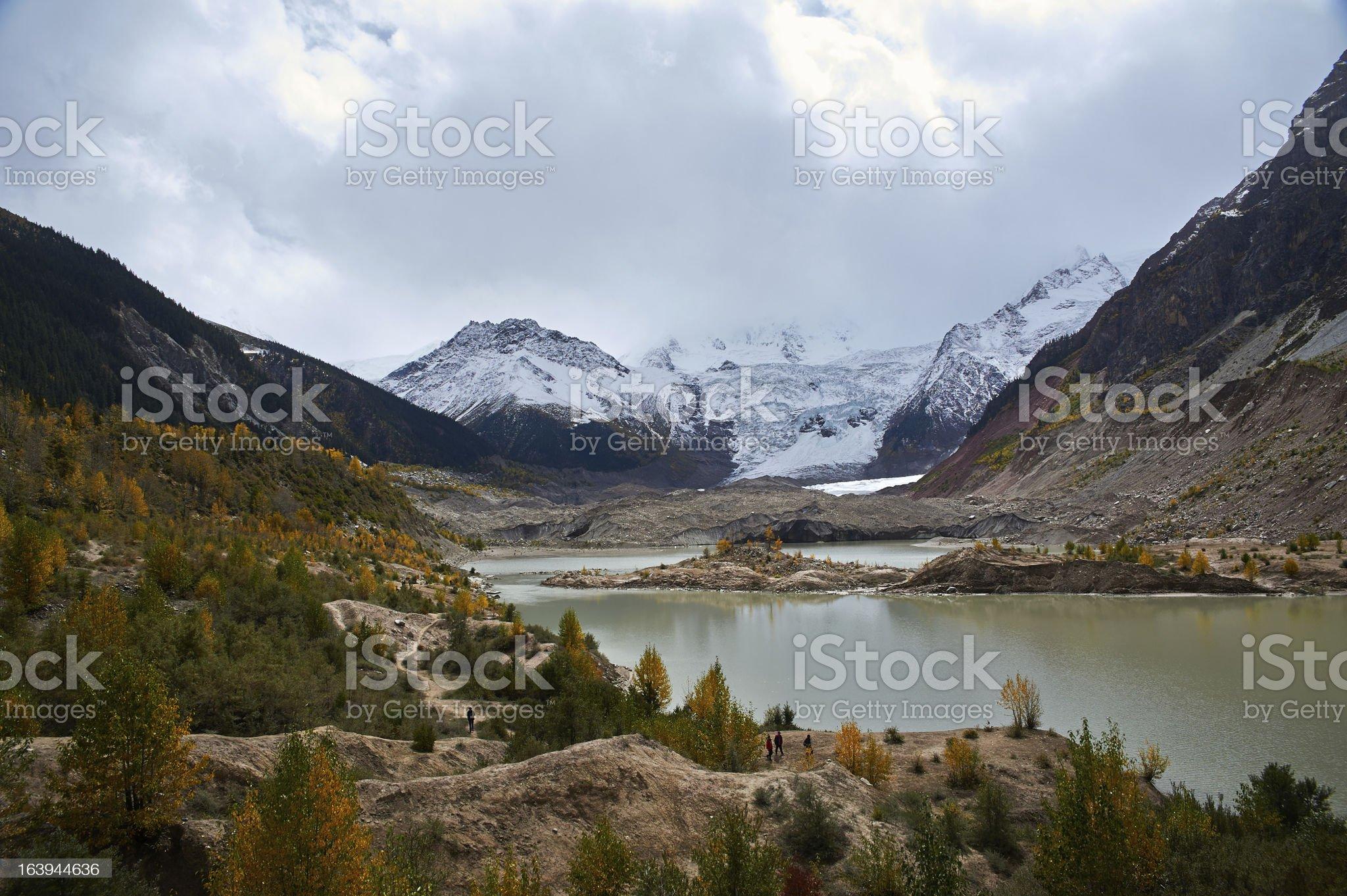 Glacier of Tibet royalty-free stock photo