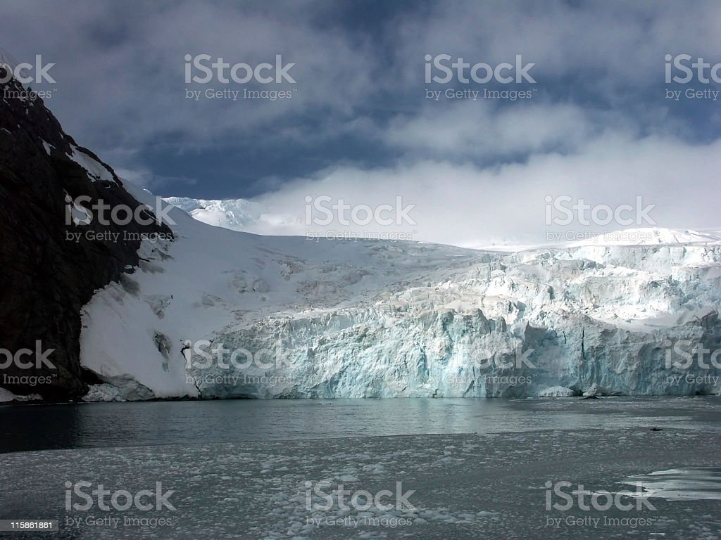 Glacier on Antarctica.. stock photo