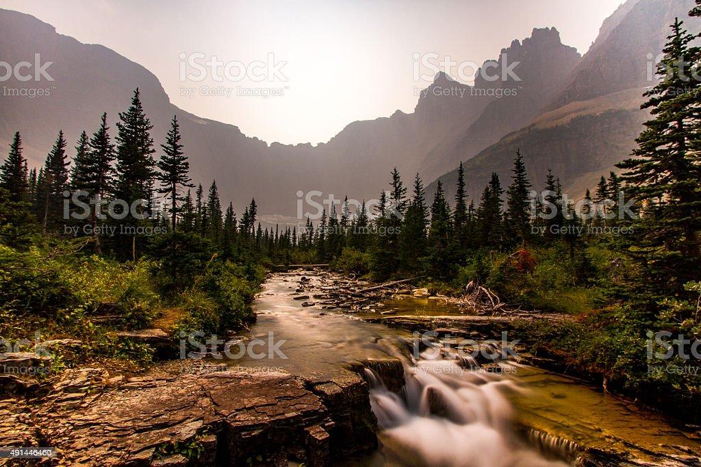 Glacier Overlook stock photo