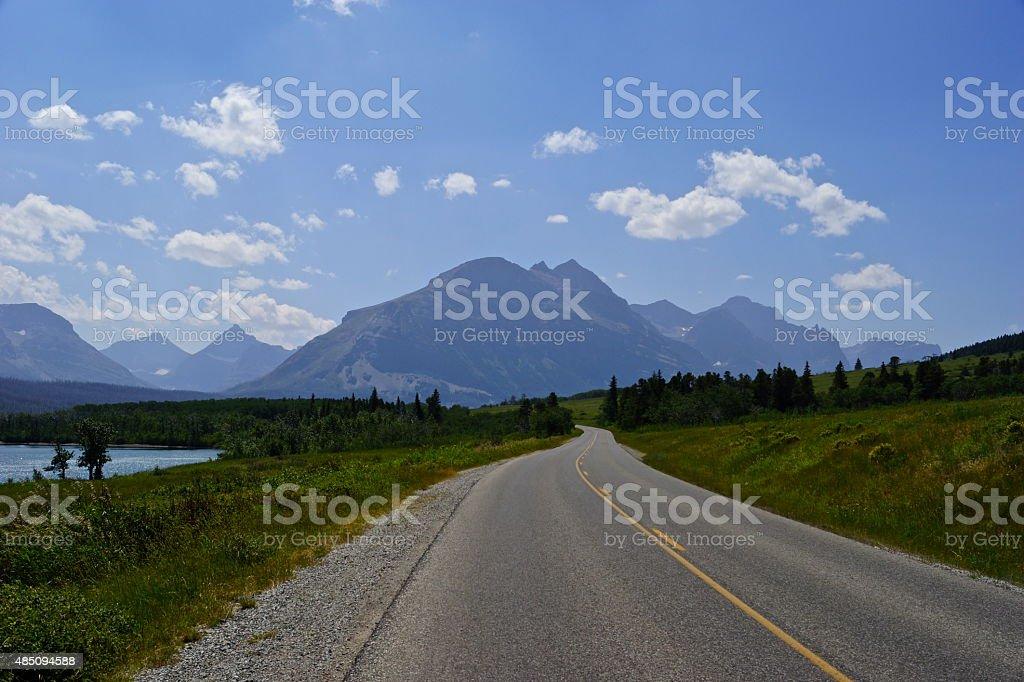 Glacier Park Road stock photo