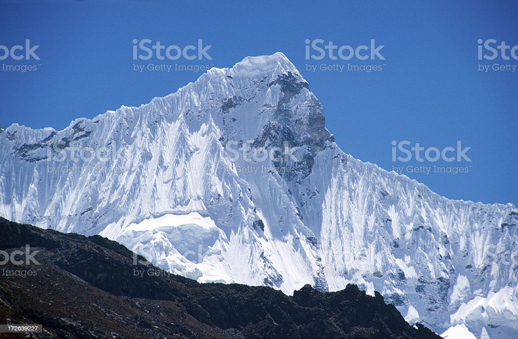 Glacier peak royalty-free stock photo
