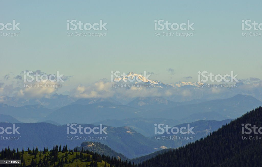 Glacier Peak View stock photo