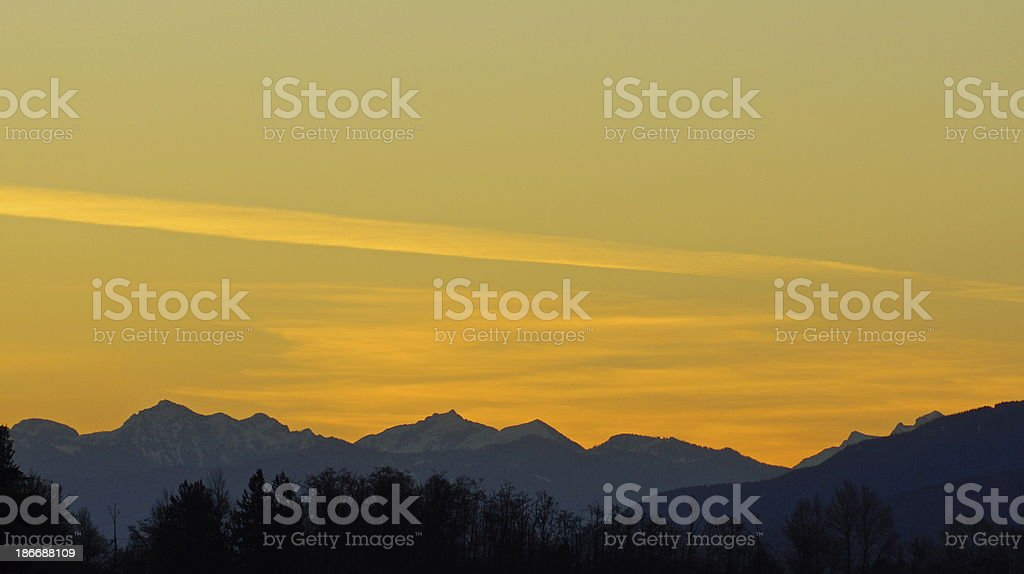 Glacier Peak Wilderness Glow stock photo