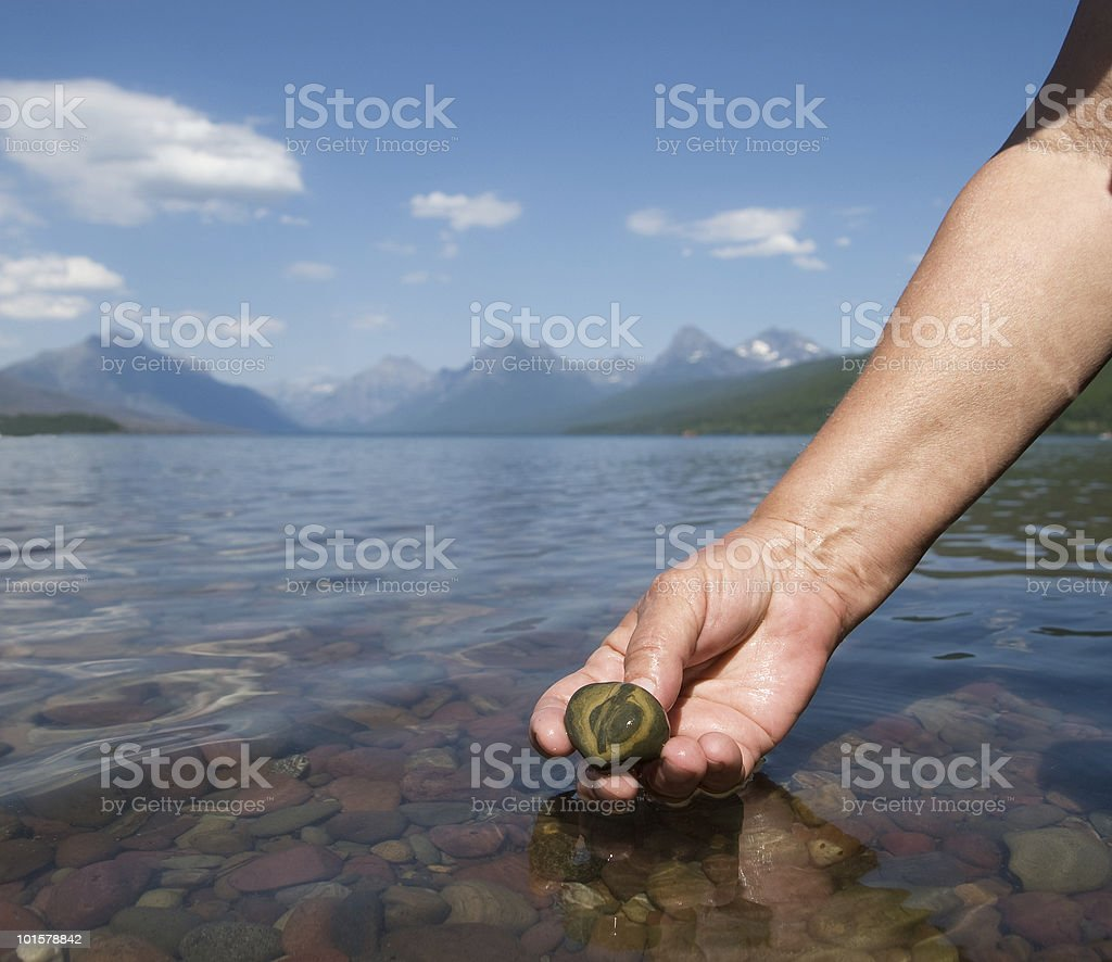 Glacier Pebble royalty-free stock photo