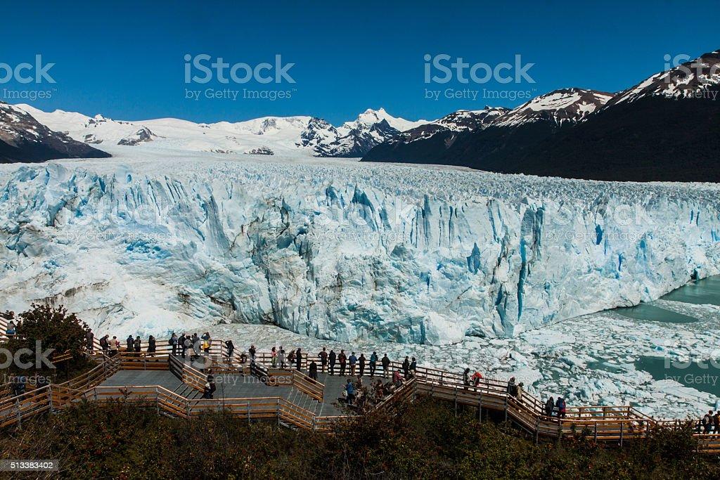 Glacier Perito Moreno in Argentina. stock photo