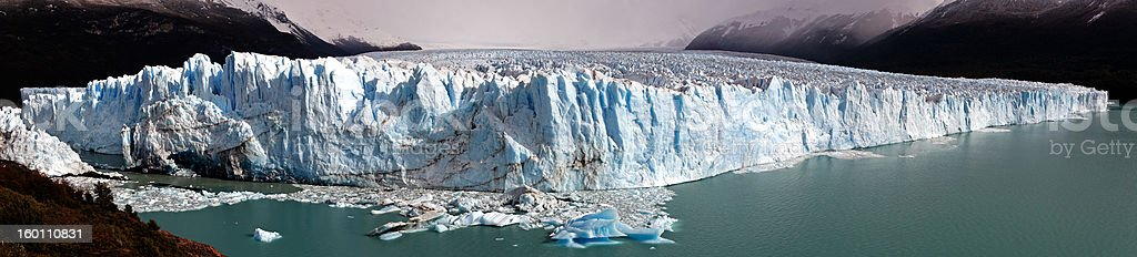 Glacier Perito Moreno panorama royalty-free stock photo
