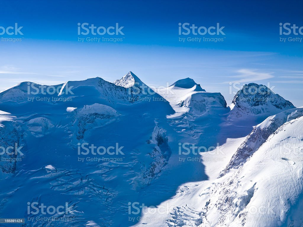 Glacier Piz Bernina - 4050 mt. royalty-free stock photo