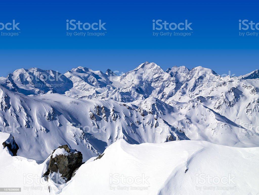 Glacier Pizzo Bernina 4049 mt. Swizerland royalty-free stock photo