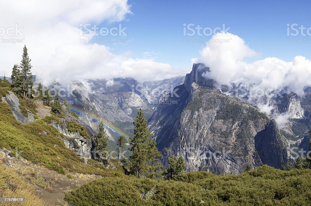 Glacier Point at Yosemite Valley in California stock photo