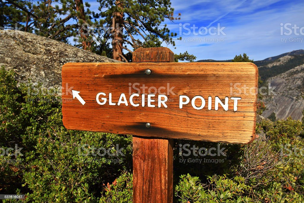 Glacier Point Sign stock photo