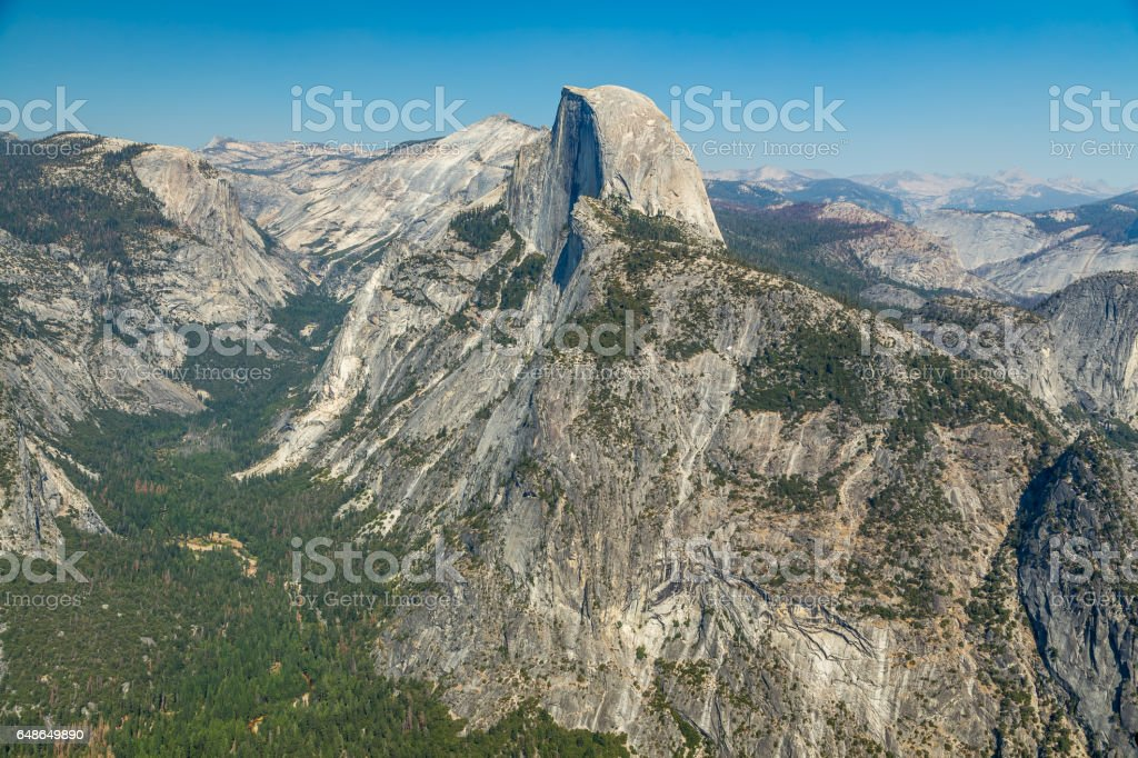 Glacier Point View stock photo