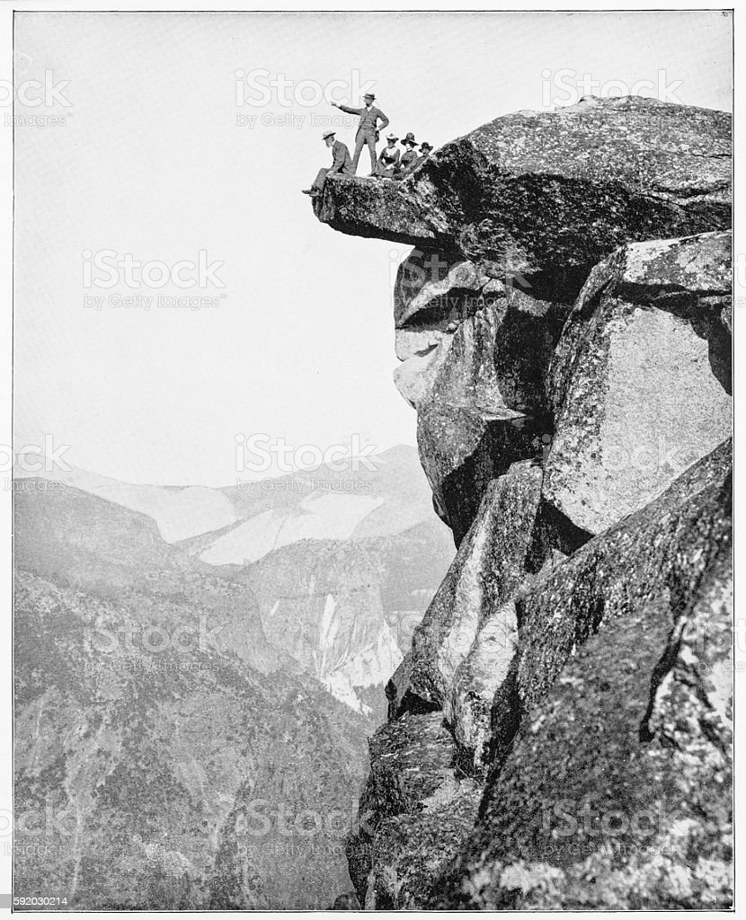 Glacier Point, Yosemite, California, USA in 1880s stock photo