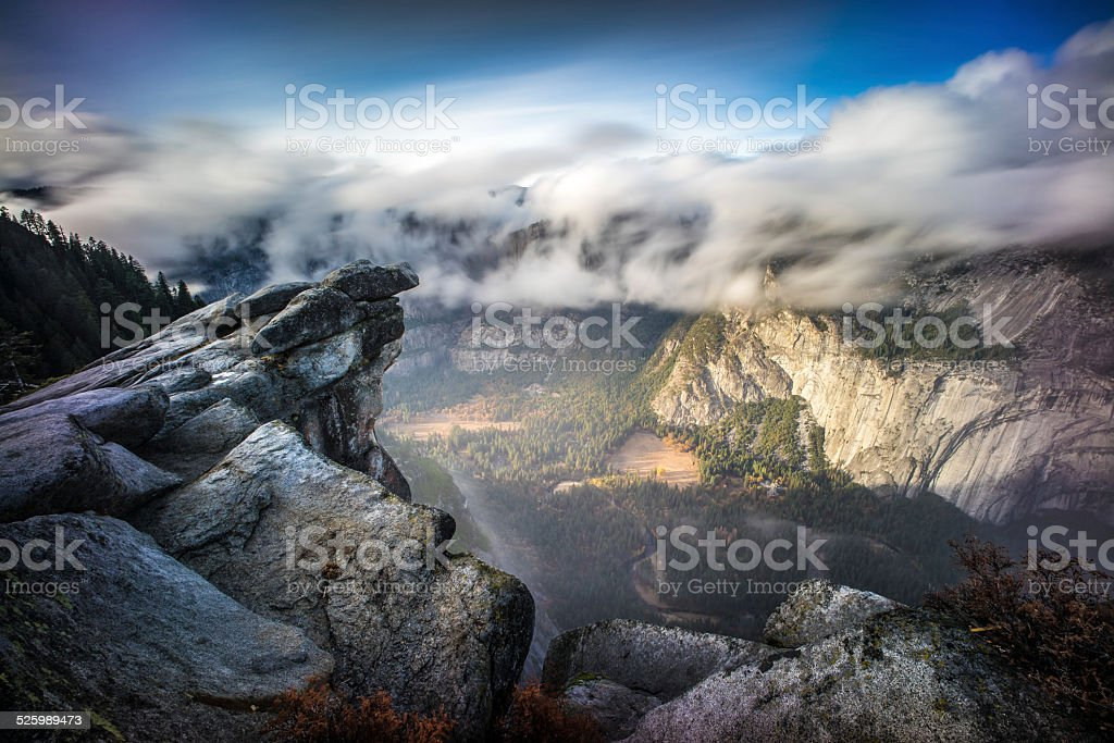 Glacier point, Yosemite national park, California stock photo