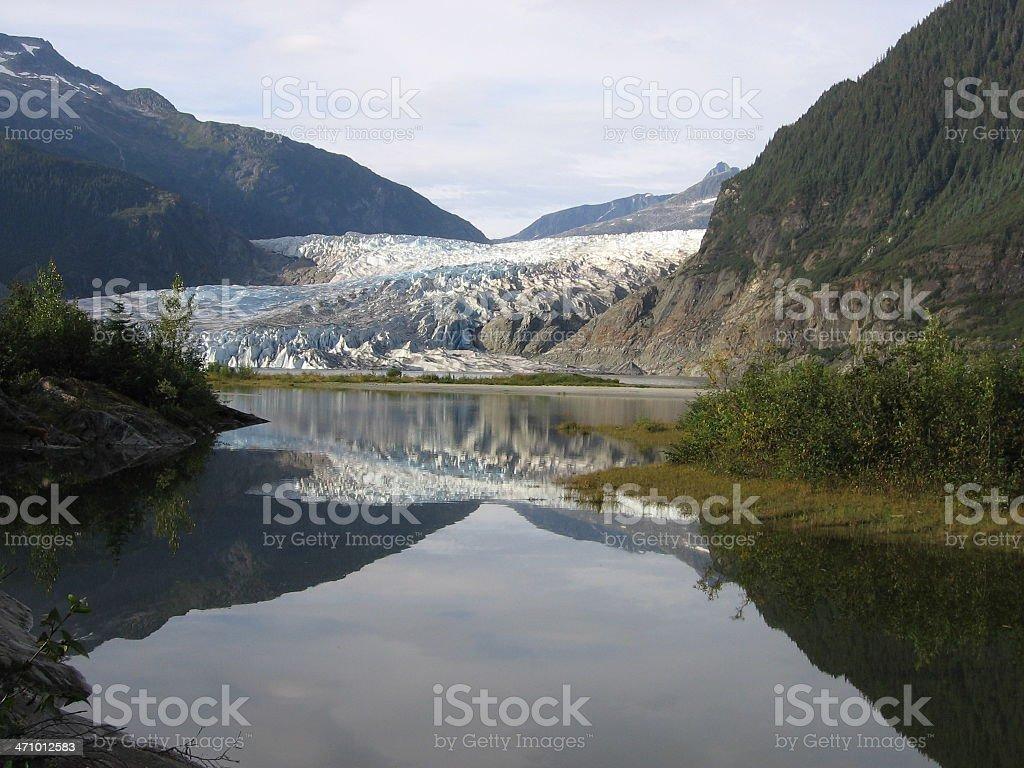 Glacier Reflections stock photo