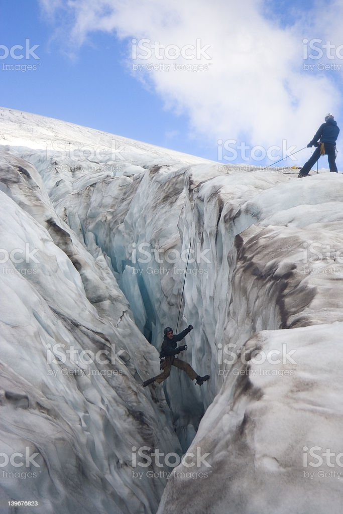 Glacier Rescue stock photo