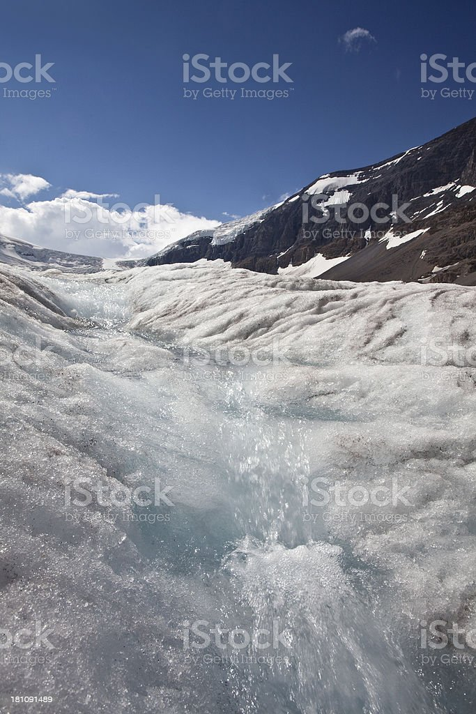 Glacier Runoff royalty-free stock photo