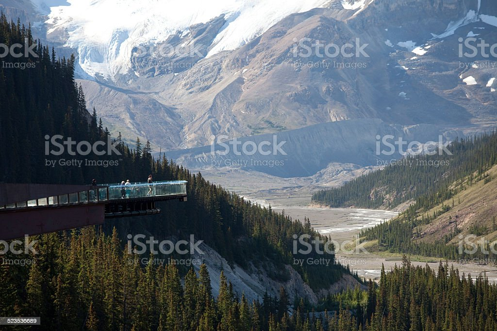 Glacier Skywalk stock photo