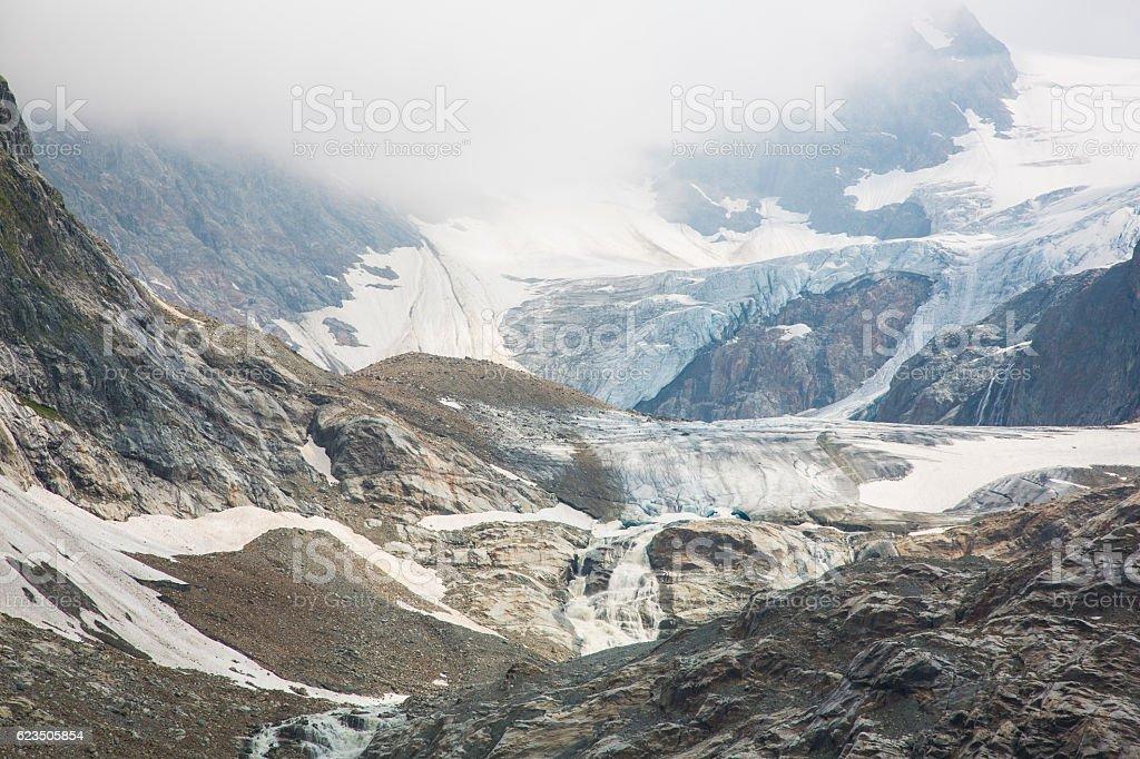 Glacier Steingletscher in Switzerland stock photo