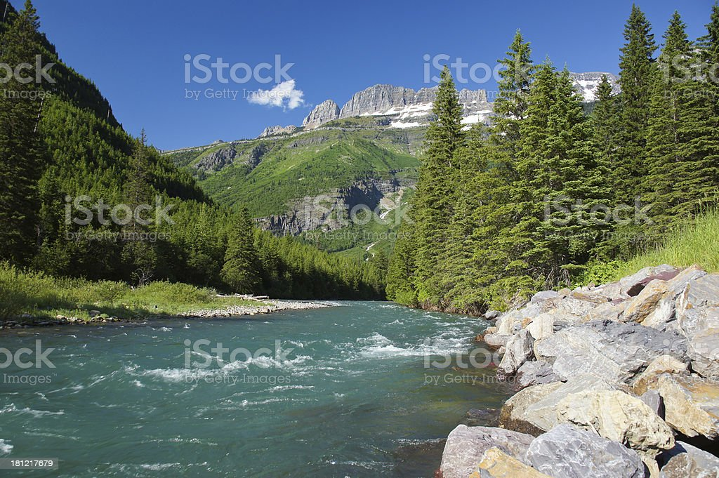 Glacier Stream stock photo
