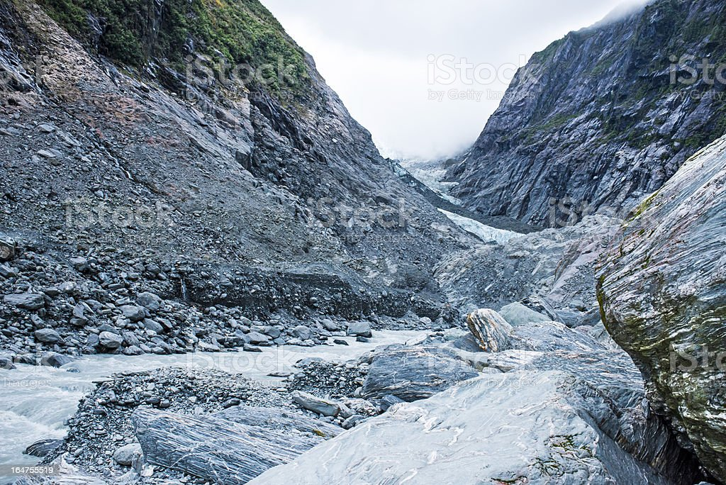 Glacier surrounded by a beatiful nature royalty-free stock photo