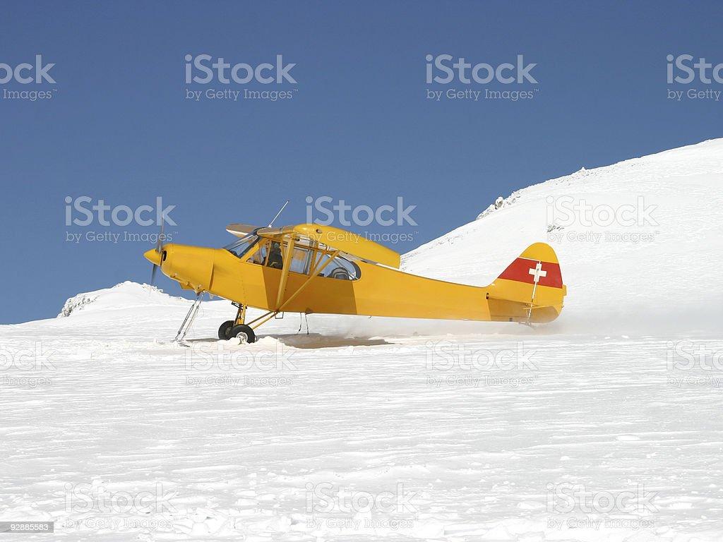 Glacier take off stock photo
