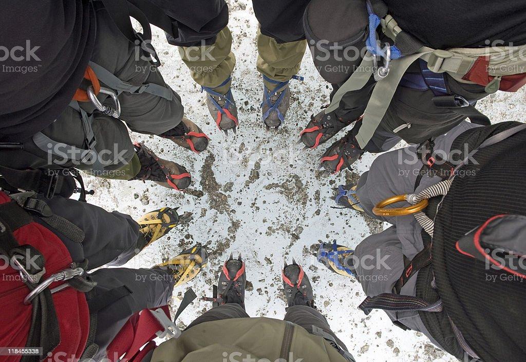 Glacier Teamwork royalty-free stock photo