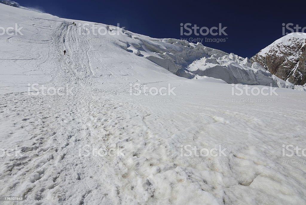 Glacier trail royalty-free stock photo