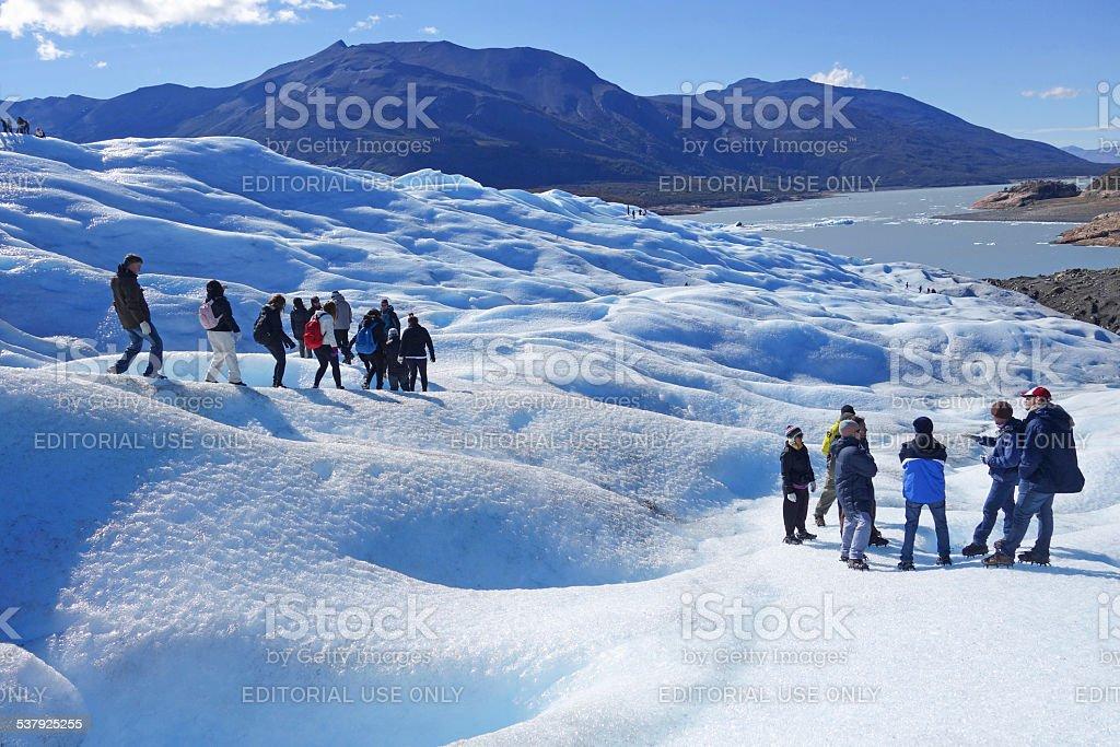 Glacier Trekking in Patagonia stock photo