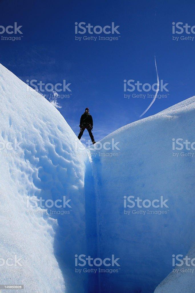 Glacier trekking royalty-free stock photo