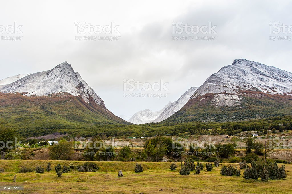 Glacier valley in Patagonia stock photo