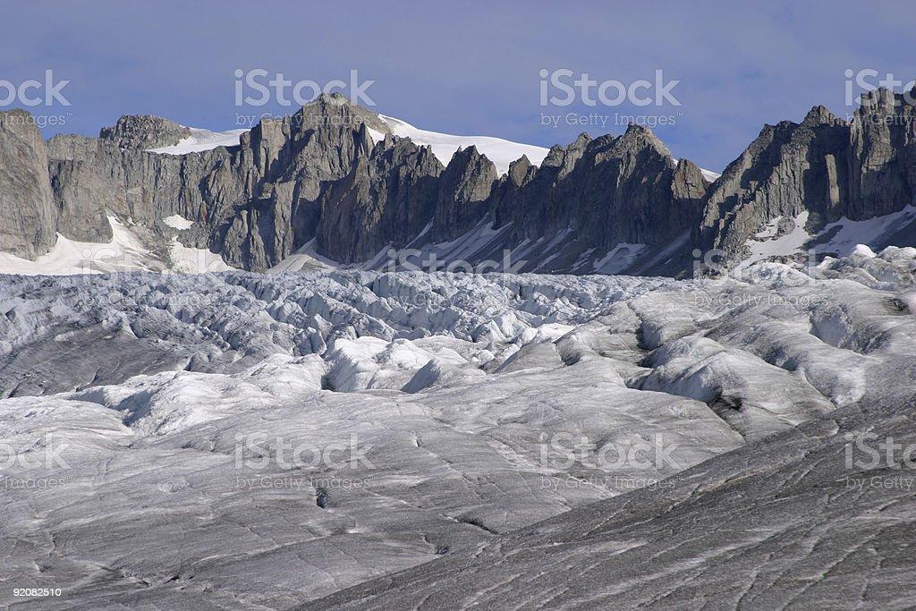 glacier view royalty-free stock photo