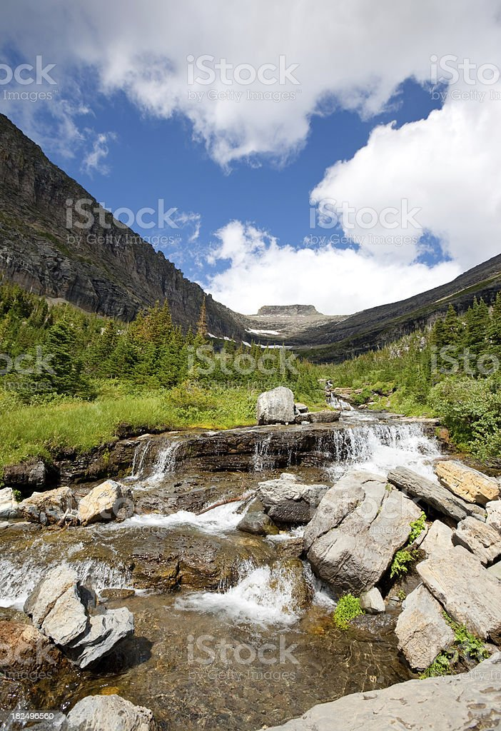 Glacier waterfall royalty-free stock photo