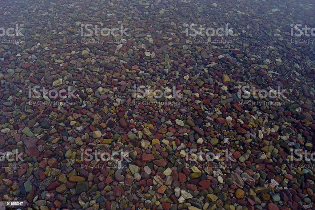 Glacier Wild Pebbles stock photo