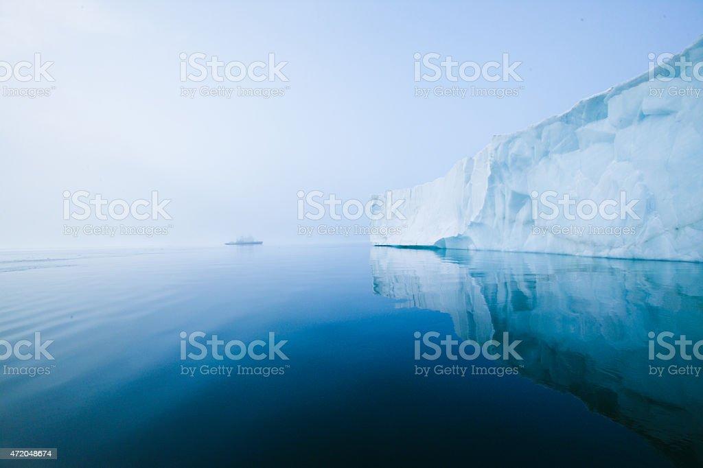 Glaciers and icebergs stock photo