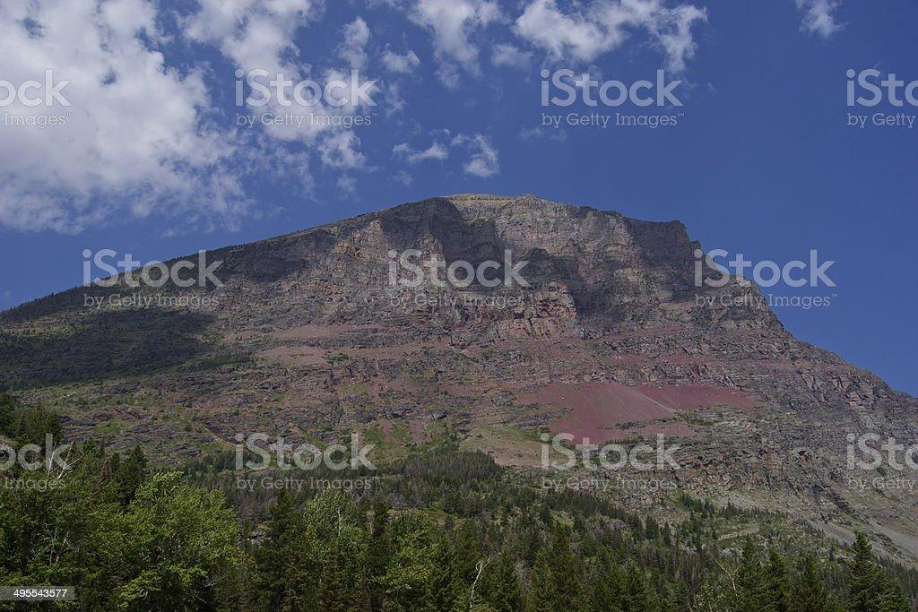 Glacier's Goat Mountain stock photo