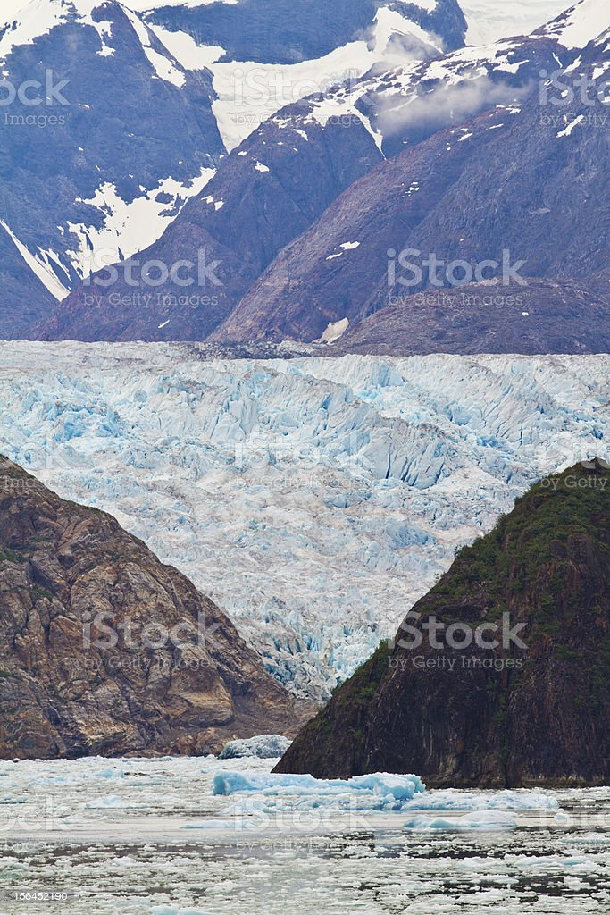 glaciers in the distance - Alaska royalty-free stock photo