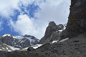 glaciers in the mountains